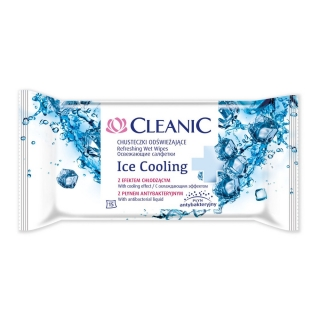 Cleanic Ice Cooling Antibacterial mentolos törlőkendő, 15 db